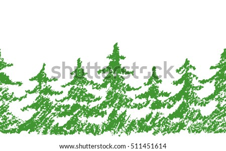 crayon childs drawing merry christmas tree pattern on white hand painting pastel chalk green color - Pastel Green Christmas Decorations