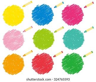 crayon collection Vector