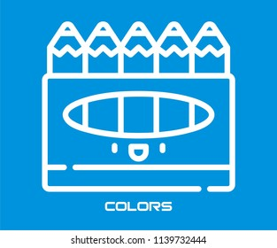 CRAYON COLOR VECTOR ICON
