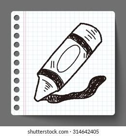 Crayon doodle