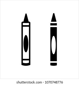 Crayon Icon, Drawing Crayon Vector Art Illustration