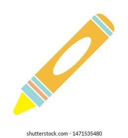 crayon icon. flat illustration of crayon - vector icon. crayon sign symbol
