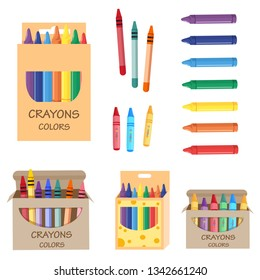 crayon packs, vector set