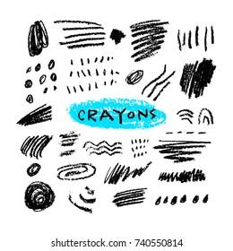 Crayons set black