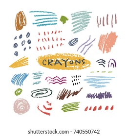 Crayons set color
