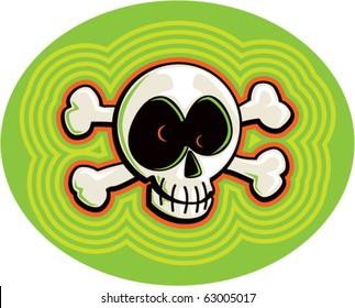 Crazy Cartoon Skull