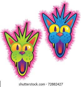 Crazy Cat faces