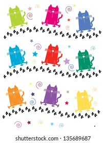 Crazy Colorful Cats