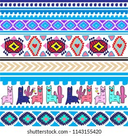 crazy colors lama pattern for kids clothes and fashion