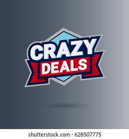 crazy deal logo design