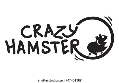 Crazy Hamster runnning