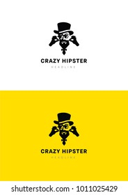 Crazy hipster logo template.