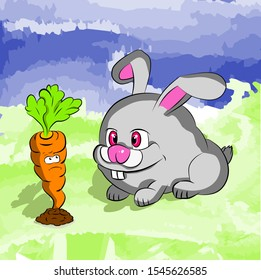 crazy rabbit love for carrots