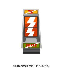Crazy slot machine vector Illustration on a white background