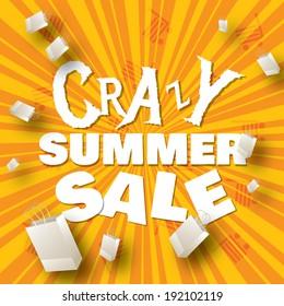 Crazy summer sale design template