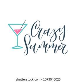Crazy Summer! Vector card