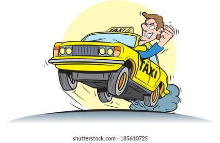 Crazy taxi driver.