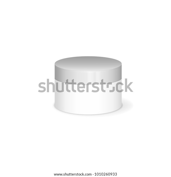 Cream mochup, vector 3D concept on white background