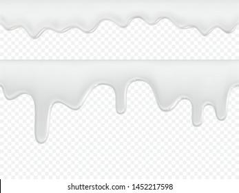 Cream, yogurt, ice cream or milk  vector