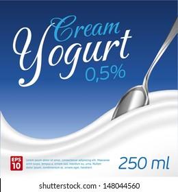Cream Yogurt wave background