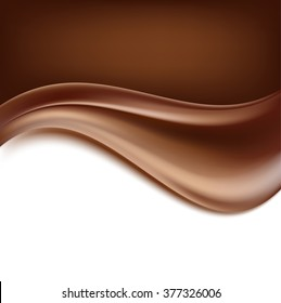 creamy abstract chocolate background. vector