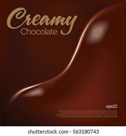 Creamy chocolate wave melting