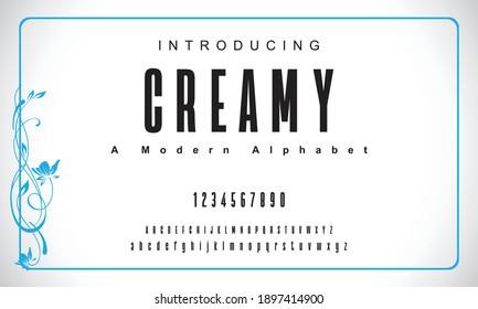 Creamy font. Elegant alphabet letters font and number. Classic Copper Lettering Minimal Fashion Designs. Typography fonts regular uppercase and lowercase. vector illustration