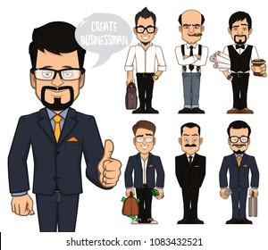 Create businessman characters