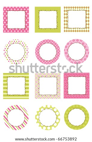 Create Lots Fun Girly Projects This Stock Vector (Royalty Free ...
