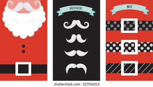 Create your own hipster Santa Christmas card. illustration