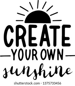 Create your own sunshine for T-shirt decoration