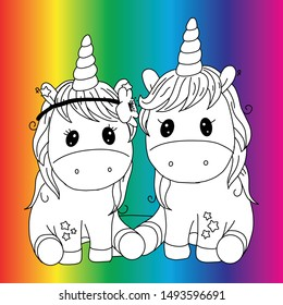 Create your own unicorn -  Vector illustration