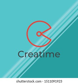 Creatime And C Letter Logo Vector.