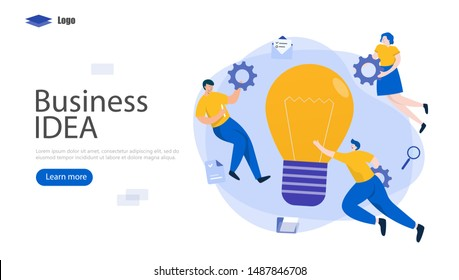 Creating a Business IDEA Vector Illustration Concept, Suitable for web landing page, ui, mobile app, editorial design, flyer, banner, and other related occasion