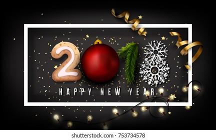 Creative 2018 New Year Design Background