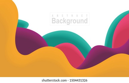Creative 3D Abstract Background. Paper Cut Wave Style. Designed for web, banner, background, wallpaper, flyer, poster, presentation, template, layout, backdrop, etc. Suitable for your business.