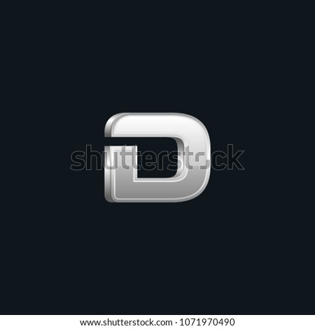 Creative 3d letter D vector designs