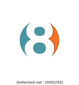 creative 8 letter logo design, icon design template elements