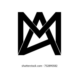 creative and abstract alphabet logo MA.AM.A.M logo