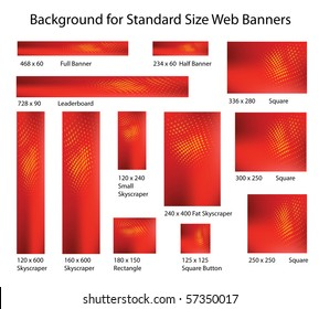 Creative, Abstract Background Set for Standard Size Web Banner Ads