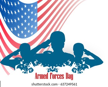 creative abstract, banner or poster for Armed Forces Day with nice and creative design illustration.