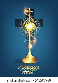 creative abstract, banner or poster for Corpus Christi with nice and creative design illustration.