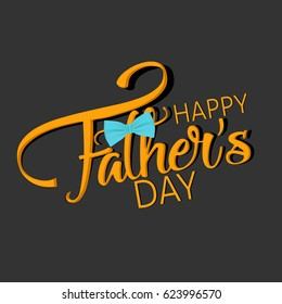 creative abstract, banner or poster for Happy Father's Day with nice and creative design illustration.