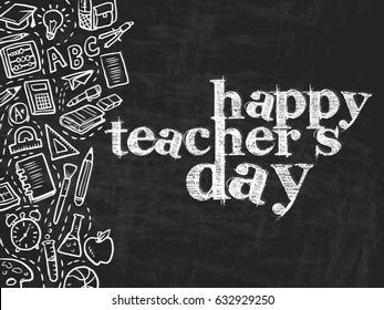 creative abstract, banner or poster for Happy Teacher's Day with nice and creative design illustration.