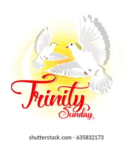 creative abstract, banner or poster for Trinity Sunday with nice and creative design illustration.