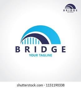 creative abstract bridge logo design template