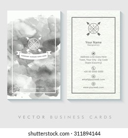 Creative Abstract business card set with front and back side presentation.