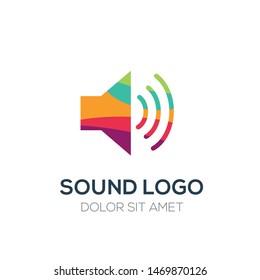 Creative Abstract Colorful Logo , SOUND LOGO