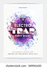 Creative abstract design decorated, Template, Banner or Flyer design for Musical Night Party celebration.