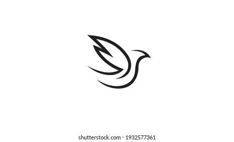 Creative Abstract Dove Logo Vector
